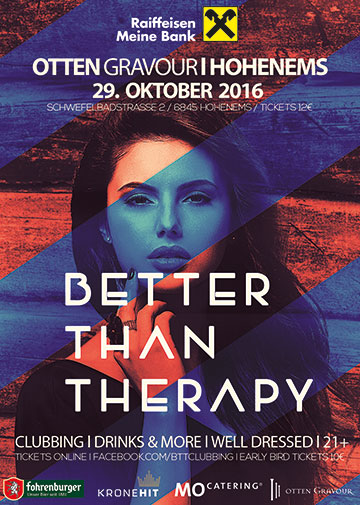 Better than Therapy Flyer